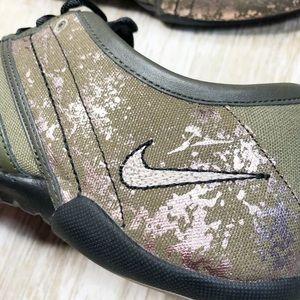 Nike Shoes - {Nike} Nike Air Capri Sneakers Bronzed Olive Gold